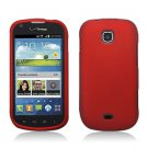 Hard Plastic Rubberized Snap On Case Cover for Samsung Galaxy Stellar 4G i200 (Verizon) - Red