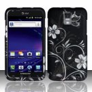 Hard Plastic Rubber Feel Design Case for Samsung Galaxy S II Skyrocket (AT&T) - Midnight Garden