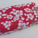 Hard Plastic Rubber Feel Design Case for Samsung Epic 4G - Hawaiian Flowers