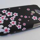 Hard Plastic Rubber Feel Design Case for Samsung Epic 4G - Cherry Blossom