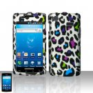 Hard Plastic Rubber Feel Design Case for Samsung Galaxy S Captivate i897 (AT&T) - Rainbow Leopard