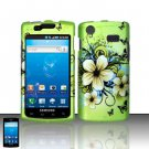 Hard Plastic Rubber Feel Design Case for Samsung Galaxy S Captivate i897 - Flowers & Butterfly