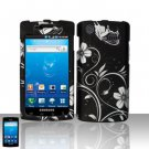 Hard Plastic Rubber Feel Design Case for Samsung Galaxy S Captivate i897 (AT&T) - Midnight Garden