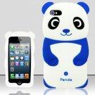 Panda Bear Soft Gel Rubber Skin Case Cover for Apple iPhone 5 6th Gen Phone - Blue