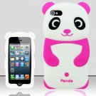 Panda Bear Soft Gel Rubber Skin Case Cover for Apple iPhone 5 6th Gen Phone - Pink