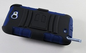 Rugged Armor Hybrid Hard Case w/ Belt Clip Holster for Samsung Galaxy Note 2 II N7100 - Navy Blue