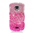 Hard Plastic Bling Rhinestone Design Case for Samsung Droid Charge i510/i520 - Pink Waterfall