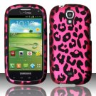 Hard Plastic Snap On Case Cover for Samsung Stratosphere 2 i415 (Verizon) - Hot Pink Leopard