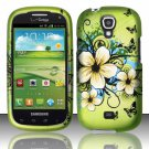 Hard Plastic Snap On Case Cover for Samsung Stratosphere 2 i415 (Verizon) - Flowers & Butterfly