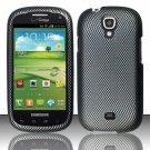 Hard Plastic Snap On Case Cover for Samsung Stratosphere 2 i415 (Verizon) - Carbon Fiber