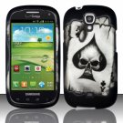 Hard Plastic Snap On Case Cover for Samsung Stratosphere 2 i415 (Verizon) - Ace of Spade Skull