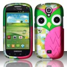 Hard Plastic Snap On Case Cover for Samsung Stratosphere 2 i415 (Verizon) - Starry Green Owl