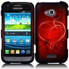 Hard Plastic Rubberized Snap On Case Cover for Samsung Galaxy Victory 4G LTE (Sprint) - Red Heart