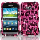 Hard Plastic Bling Case Cover for Samsung Galaxy Victory 4G LTE (Sprint) – Hot Pink Leopard