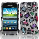 Hard Plastic Bling Case Cover for Samsung Galaxy Victory 4G LTE (Sprint) – Rainbow Leopard