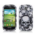 Hard Plastic Snap On Case Cover for Samsung Stratosphere 2 i415 (Verizon) - White Skull
