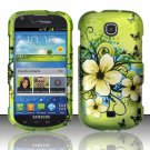 Hard Plastic Snap On Case Cover for Samsung Galaxy Stellar 4G i200 (Verizon) - Flowers & Butterfly