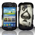 Hard Plastic Snap On Case Cover for Samsung Galaxy Stellar 4G i200 (Verizon) - Spade Skull