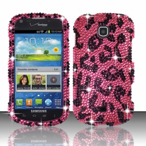 Hard Plastic Bling Snap On Case Cover Samsung Galaxy Stellar 4G i200 (Verizon) - Hot Pink Leopard