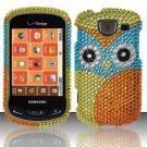Hard Plastic Bling Rhinestone Design Case for Samsung Brightside U380 - Colorful Owl