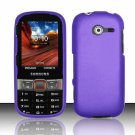 Hard Plastic Rubberized Snap On Case Cover for Samsung Array/Montage M390 – Purple