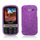 Hard Plastic Bling Snap On Case Cover Samsung Array/Montage M390 – Purple