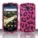 Hard Plastic Bling Rhinestone Design Case for Samsung Droid Charge i510/i520 - Hot Pink Leopard