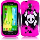 Hard Plastic Snap On Case Cover for Samsung Stratosphere 2 i415 (Verizon) - Girly's Skull