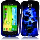 Hard Plastic Snap On Case Cover for Samsung Stratosphere 2 i415 (Verizon) - Blue Skull