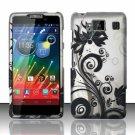 Hard Plastic Snap On Matte Design Case Cover Motorola Droid RAZR Maxx HD (Verizon) – Black Vines