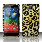 Hard Plastic Snap On Matte Design Case Motorola Droid RAZR Maxx HD (Verizon) – Golden Cheetah