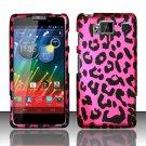 Hard Plastic Snap On Matte Design Case Motorola Droid RAZR Maxx HD (Verizon) – Hot Pink Leopard