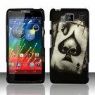 Hard Plastic Snap On Matte Design Case Motorola Droid RAZR Maxx HD (Verizon) – Spade Skull