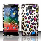 Hard Plastic Snap On Matte Design Case Motorola Droid RAZR Maxx HD (Verizon) – Rainbow Leopard