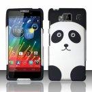 Hard Plastic Snap On Matte Design Case Motorola Droid RAZR Maxx HD (Verizon) – Cute Panda Bear
