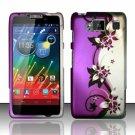 Hard Plastic Snap On Matte Design Case Motorola Droid RAZR Maxx HD (Verizon) – Purple Vines