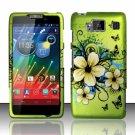 Hard Plastic Snap On Matte Design Case Motorola Droid RAZR Maxx HD (Verizon) – Flowers & Butterfly