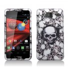 Hard Plastic Snap On Matte Design Case Cover Motorola Droid RAZR Maxx HD (Verizon) – White Skull