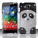 Hard Plastic Snap On Bling Case Cover for Motorola Droid RAZR Maxx HD (Verizon) – Cute Panda Bear