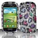 Hard Plastic Bling Snap On Case Cover for Samsung Stratosphere 2 i415 (Verizon) - Rainbow Leopard