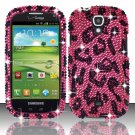 Hard Plastic Bling Snap On Case Cover for Samsung Stratosphere 2 i415 (Verizon) - Hot Pink Leopard
