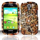 Hard Plastic Bling Snap On Case Cover for Samsung Stratosphere 2 i415 (Verizon) - Golden Cheetah