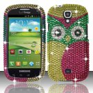 Hard Plastic Bling Snap On Case Cover for Samsung Stratosphere 2 i415 (Verizon) - Starry Green Owl