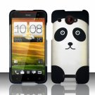 Hard Plastic Snap On Case Cover for HTC Droid DNA 6435 (Verizon) - Cute Panda Bear