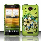 Hard Plastic Snap On Case Cover for HTC Droid DNA 6435 (Verizon) - Flowers & Butterfly
