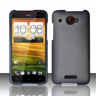 Hard Plastic Snap On Case Cover for HTC Droid DNA 6435 (Verizon) - Carbon Fiber