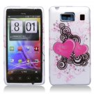 Hard Plastic Snap On Case Cover for Motorola Droid RAZR HD XT926 (Verizon) - Floating Hearts