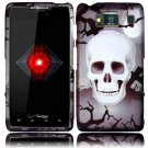 Hard Plastic Snap On Case Cover for Motorola Droid RAZR HD XT926 (Verizon) - Tomb Skull