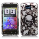 Hard Plastic Snap On Case Cover for Motorola Droid RAZR HD XT926 (Verizon) - White Skull
