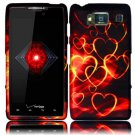 Hard Plastic Snap On Case Cover for Motorola Droid RAZR HD XT926 (Verizon) - Gold Hearts